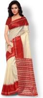 Kajal Sarees Printed Bollywood Art Silk Saree(Red, Beige)