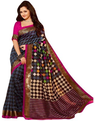 Sarees Rinkesh Printed Bhagalpuri Pure Silk Sari