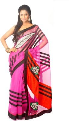 Estri Self Design Fashion Net Sari