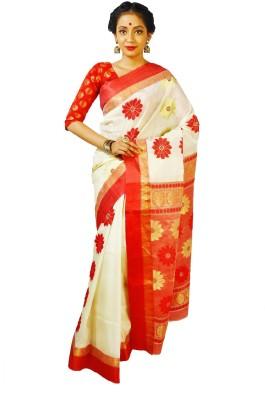 Rudraksh Embriodered Garad Handloom Silk Sari