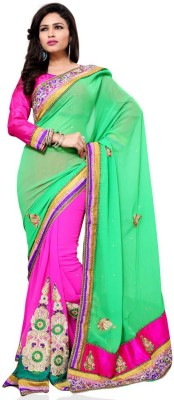 yanatextile Embriodered Fashion Chiffon Sari