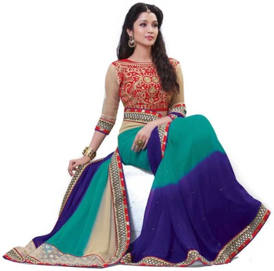 Laajjo Self Design Fashion Georgette Sari