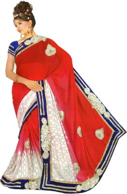 Essemm Applique Bollywood Georgette Sari