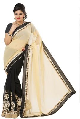 Muta Fashions Embriodered Fashion Synthetic Georgette Sari