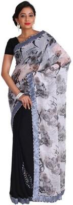 Nav Durga Floral Print, Self Design Daily Wear Art Silk Sari