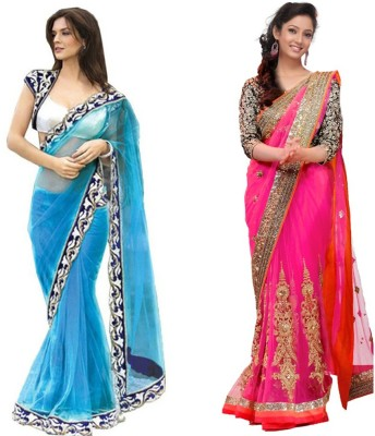 Skylar Embriodered, Embellished Bollywood Handloom Georgette, Chiffon Sari