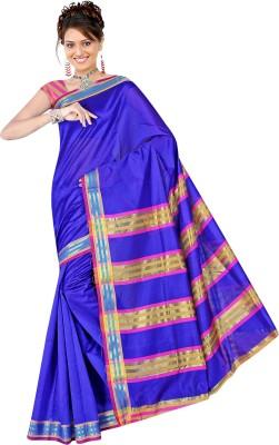 Saree Bazaar Plain Chanderi Polycotton Sari