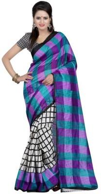 Lolla Fashion Printed Bhagalpuri Handloom Printed Silk Sari