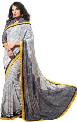 Gerbera Designer Printed Fashion Pure Georgette Sari