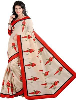 NyakaranFashionSurat Printed Assam Silk Handloom Cotton Sari