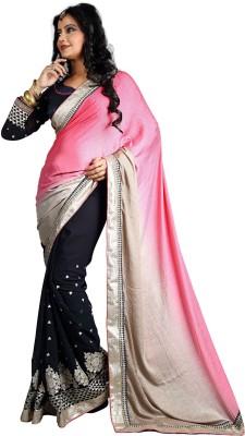 Manshvi Fashion Embriodered Daily Wear Satin Sari