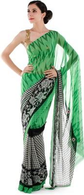 Bazzzar Printed Fashion Chiffon Sari