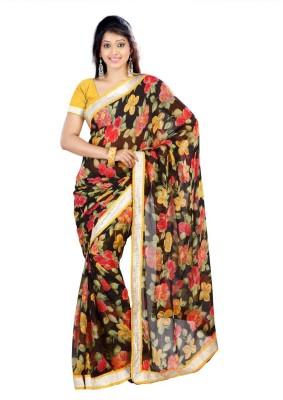 Jay Textile Floral Print Fashion Chiffon Sari