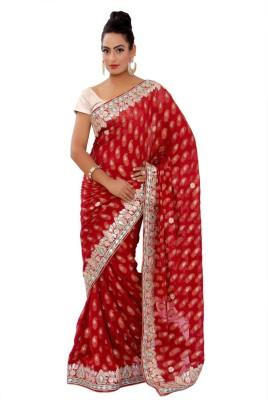 Shri Narayan Fashions Self Design Fashion Georgette Sari