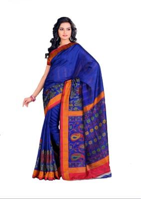 Geordie Paisley, Floral Print Fashion Art Silk, Cotton Sari