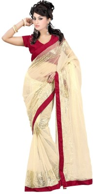 Jhalak Embriodered, Self Design Bollywood Handloom Net, Satin, Velvet Sari