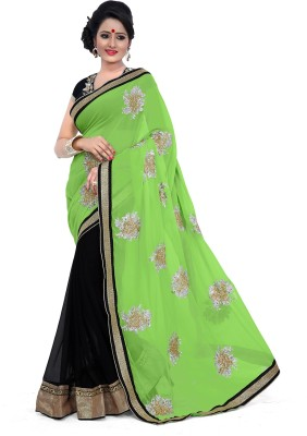 Fabista Embriodered Fashion Georgette Sari