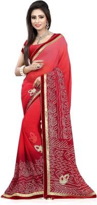 SareeStudio Printed Bandhej Georgette Sari