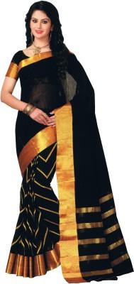 Dwiti Ethnic Solid Fashion Handloom Cotton Linen Blend Sari