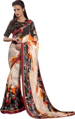 Amayra Fashions Printed Fashion Crepe Sari