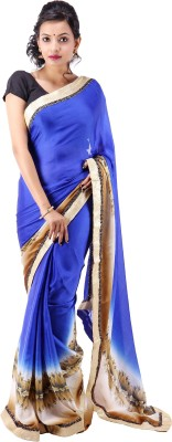 Ethnic Fashion Boutique Floral Print Fashion Handloom Georgette Sari