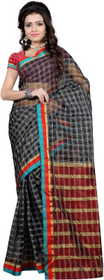 ZofeyFashion Striped Chanderi Cotton Sari