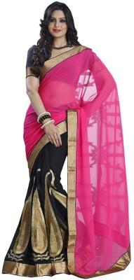 SFC Solid Bollywood Handloom Chiffon Sari