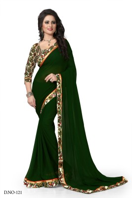 Sarees House Solid, Printed Fashion Chiffon Sari