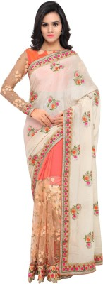 Aagaman Fashion Embroidered Fashion Chiffon Saree(Multicolor) at flipkart