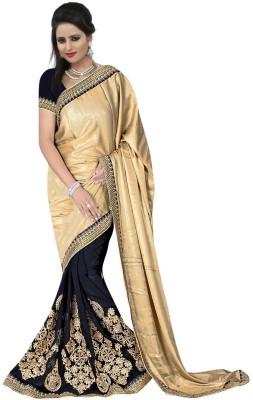 Shivam Textiles Embellished, Embriodered Fashion Georgette Sari