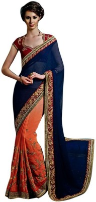 Mukta Mishree Exports Embriodered Fashion Chiffon Sari