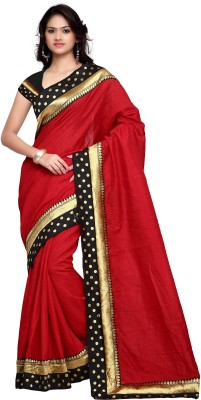 Shree Parmeshwari Solid Bhagalpuri Art Silk Sari