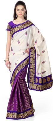 SK Self Design Fashion Brasso Sari