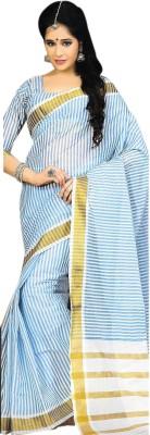 Madhevi Self Design Fashion Cotton Sari