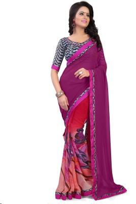 RoZiy Printed Fashion Georgette Sari