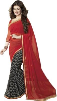 Dreambucket Self Design Bollywood Georgette Sari