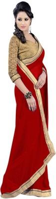 Ethnic Era Solid Fashion Georgette Sari