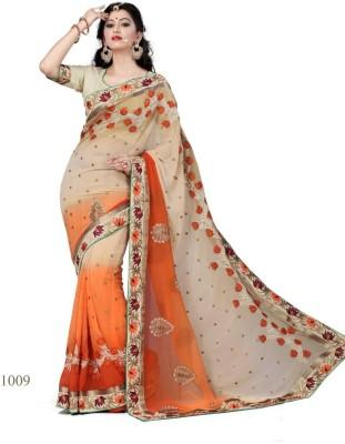 Anerra Embriodered, Printed Fashion Chiffon Sari