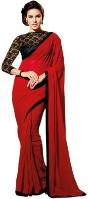 Shaurya Trendz Plain Rajkot Georgette Sari