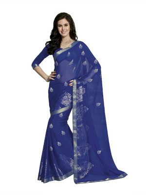 Aakarshanz Printed Fashion Synthetic Georgette Sari