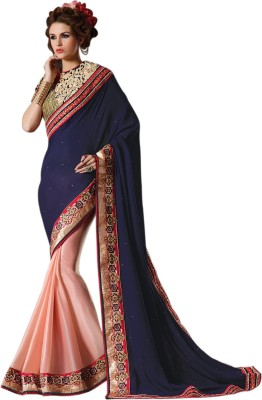 Bhavi Striped Fashion Georgette Sari