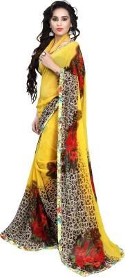 Mahadevi Floral Print Bollywood Georgette Sari