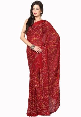 Soundarya Printed Bandhej Crepe Sari
