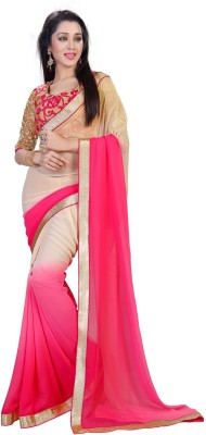 sivermoonfashion Plain Fashion Pure Georgette Sari