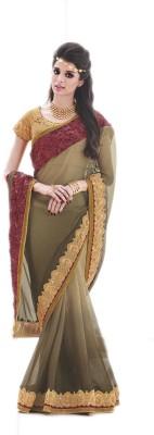 NARGIS FASHION Applique Gajee Georgette Sari