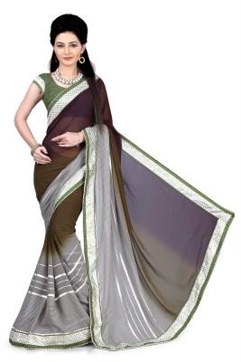 Indianbeauty Self Design, Printed Bollywood Georgette Sari