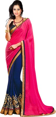 Unique Dresses Embriodered Fashion Chiffon, Georgette Sari