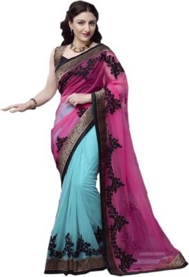 Nine Sister Embriodered Bollywood Net Sari