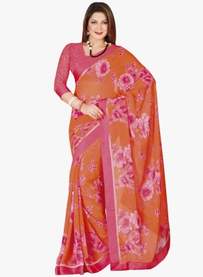 Vishal Prints Printed Fashion Synthetic Georgette Sari