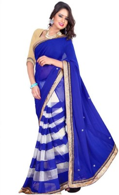 Mavani Solid Bollywood Net Sari